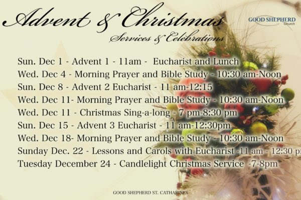2019-Advent services and celebrations